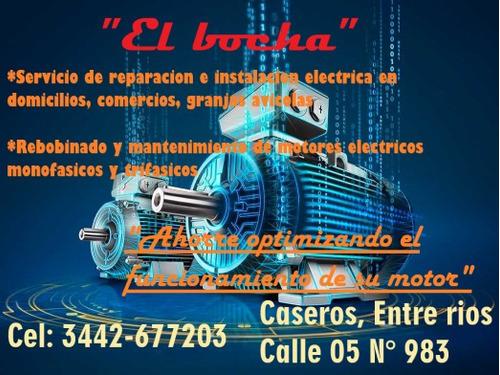 re bobinado de motores electricos trifasicos y monofasicos