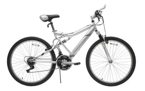 reaction  ico-sh full-suspension mountain bike, silver (18-i