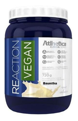 reaction vegan - baunilha 720g - atlhetica