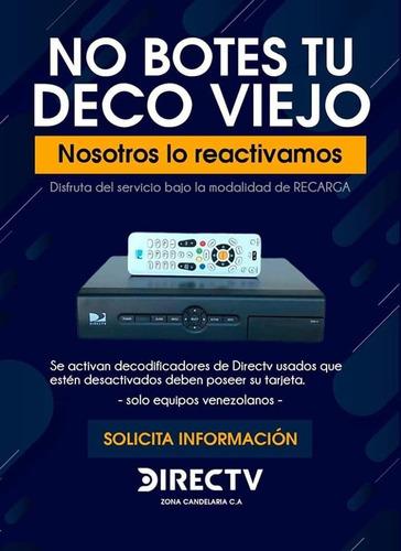 reactivacion de decodificadores directv