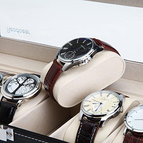 readaeer caja de reloj caja organizador de almacenamiento de