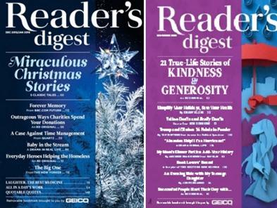 reader's digest jan/16, nov/16. revista inglés. 2 unidades.