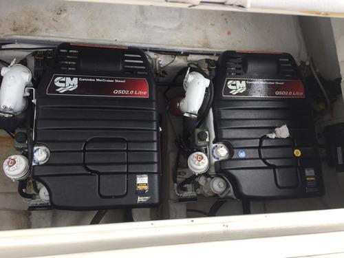 real 300 mercruiser qsd 170 hp cada diesel 2012. caiera