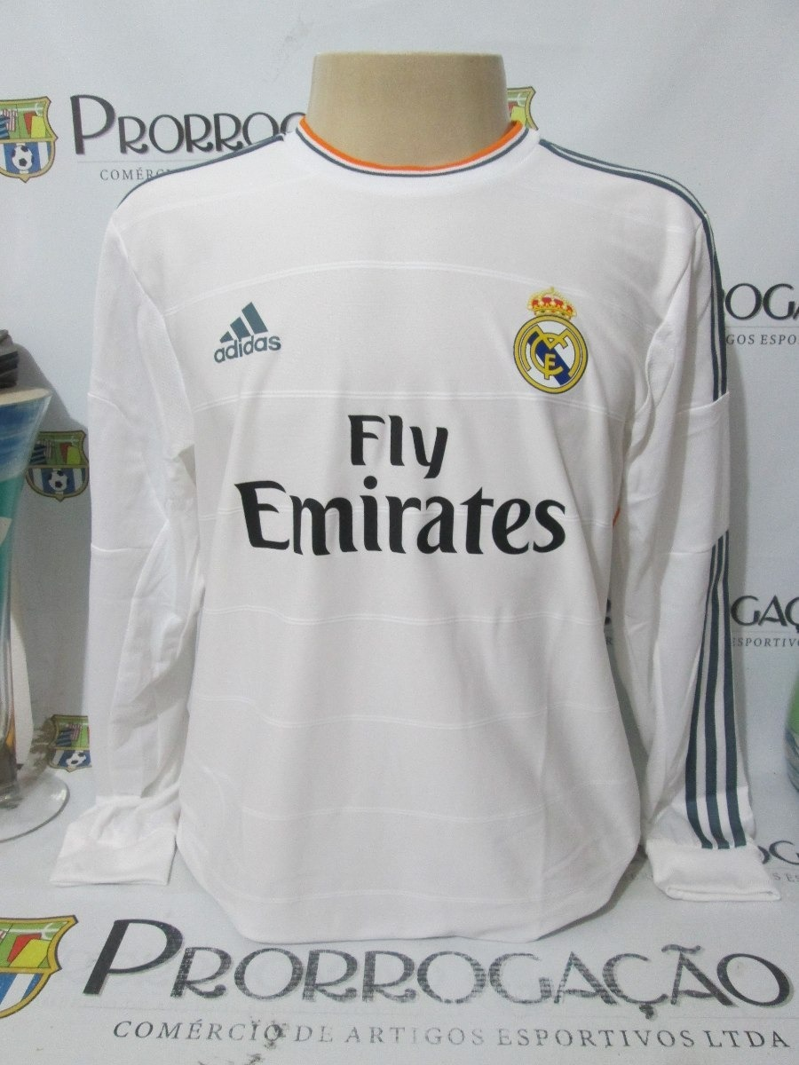bc8c8e6476611 Real Madrid Branca - De Jogo - Cr7  7 Cr. Ronaldo 2013 2014 - R ...