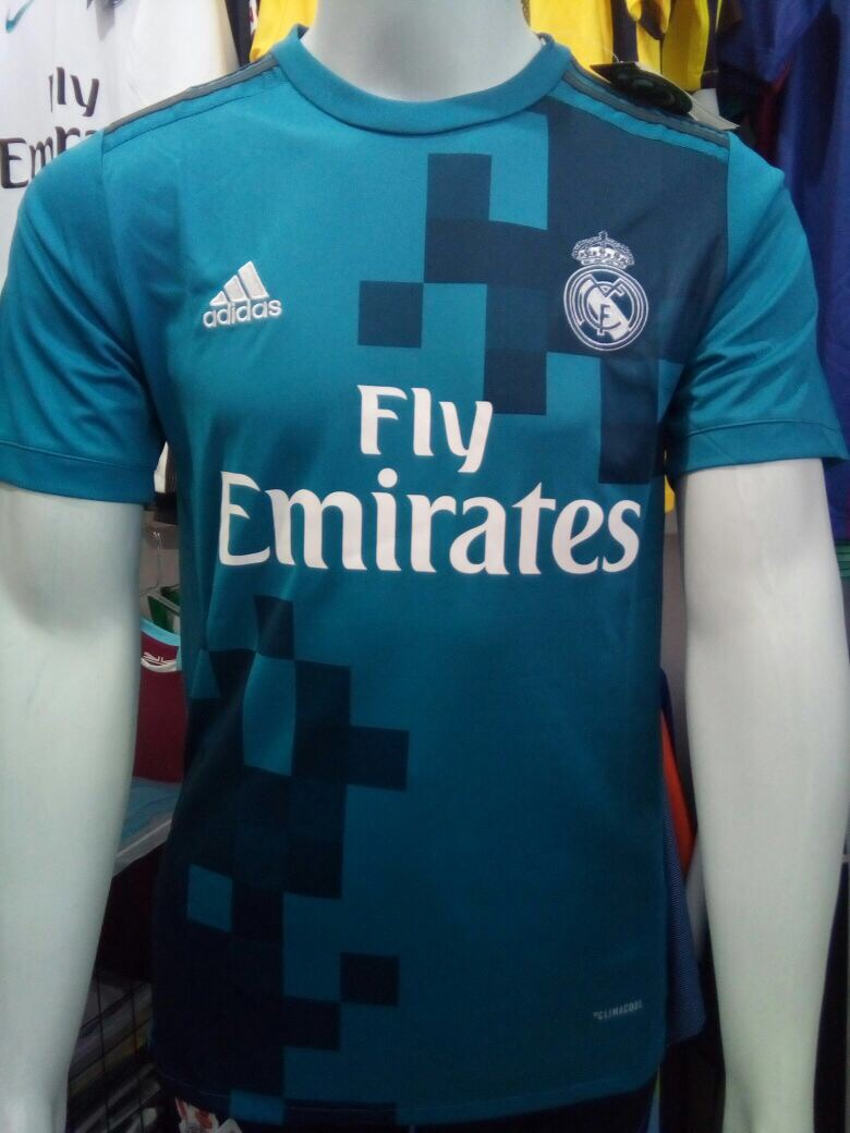 Camisa adidas Real Madrid Third 2018 S nº - Azul - R  120 288d9a6447833