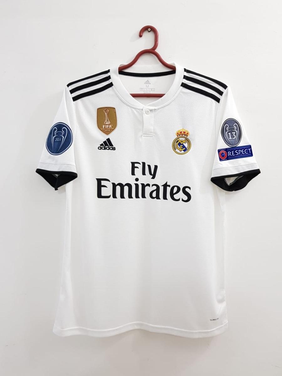 92762d8a64cd5 Camisa Real Madrid Patchs Champions Mundial Pronta Entrega - R  139 ...