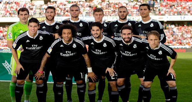 fb98be6ab9858 camiseta real madrid 2014 2015 negra liga bbva original 35%. Cargando zoom...  camiseta real madrid · real madrid camiseta