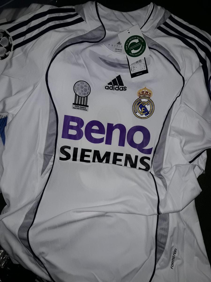 add52c6feb35d Cargando zoom... camiseta retro real madrid zidane ronaldo guti r.carlos