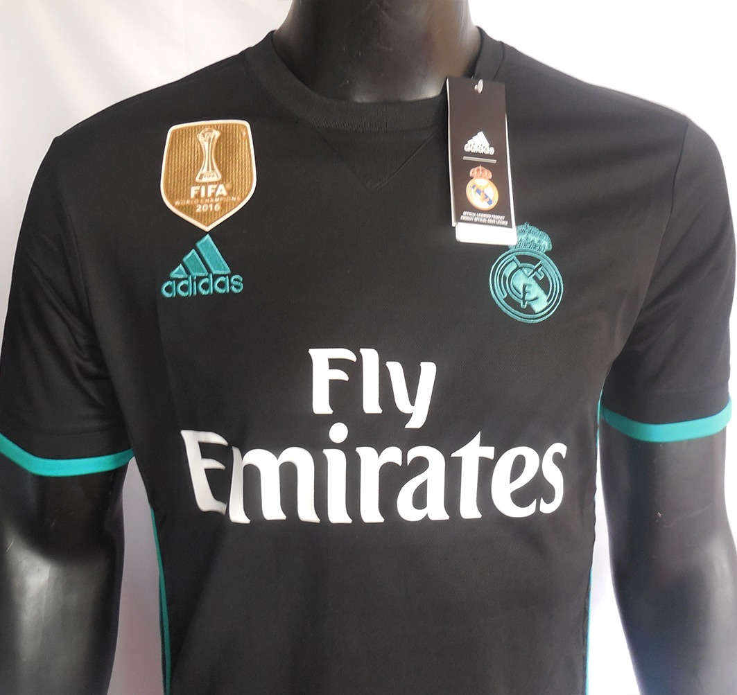 83d3afefd1 real madrid camiseta away 2017 - 2018 negro adidas. Cargando zoom.