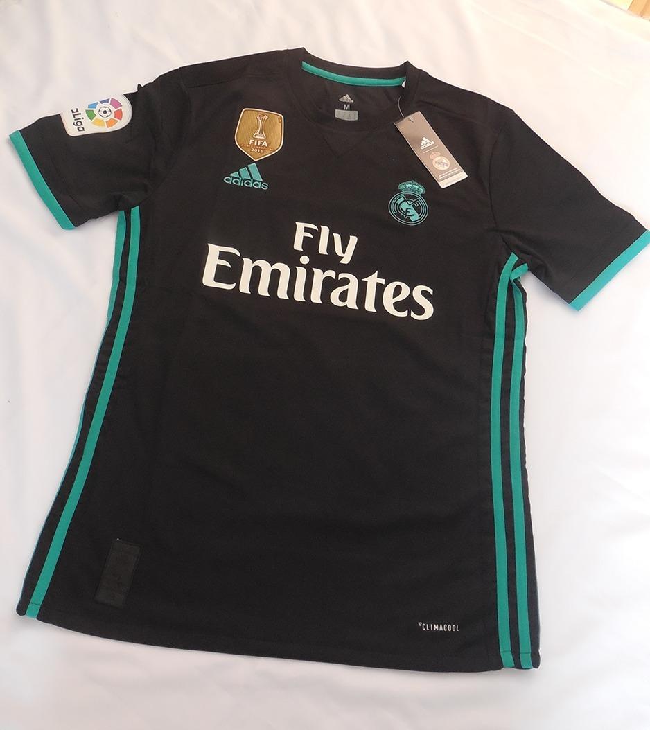 4648e1806da9d real madrid camiseta away 2017 - 2018 negro adidas. Cargando zoom.