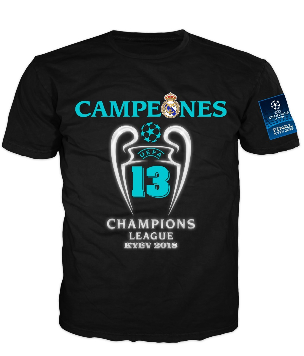 Real Madrid Campeon Champios League Playera Conmemorativa -   300.00 ... 7341ef632a87d