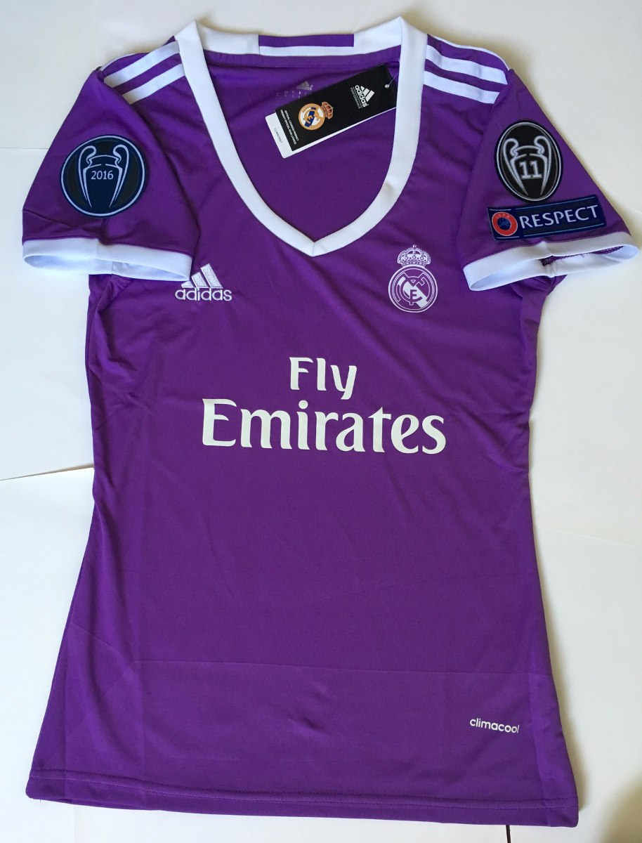 Jersey Real Madrid 2016-2017 Mujer Champions League -   650.00 en ... 82774608dc08e