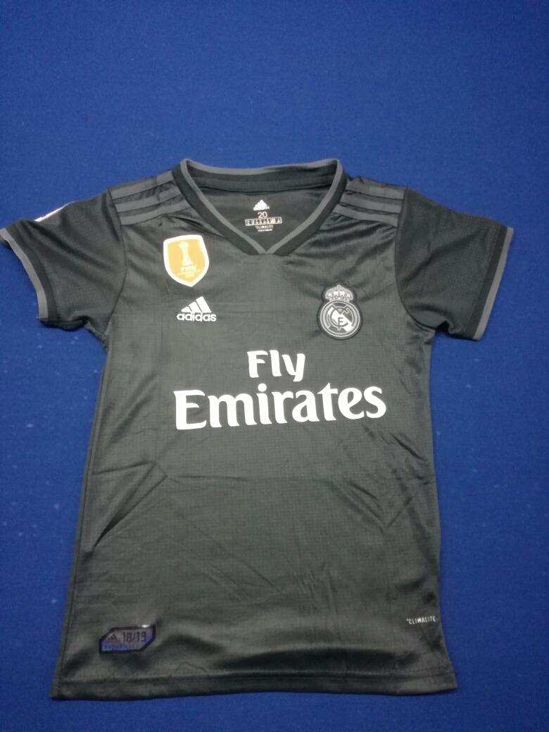 93b67e9e8e0a8 Uniforme Para Niño Real Madrid Negro Envios Gratis 2018-2019 ...