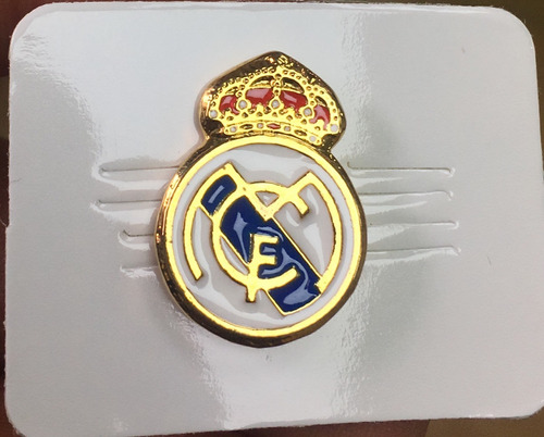 real madrid pin metalico dorado real madrid club de futbol