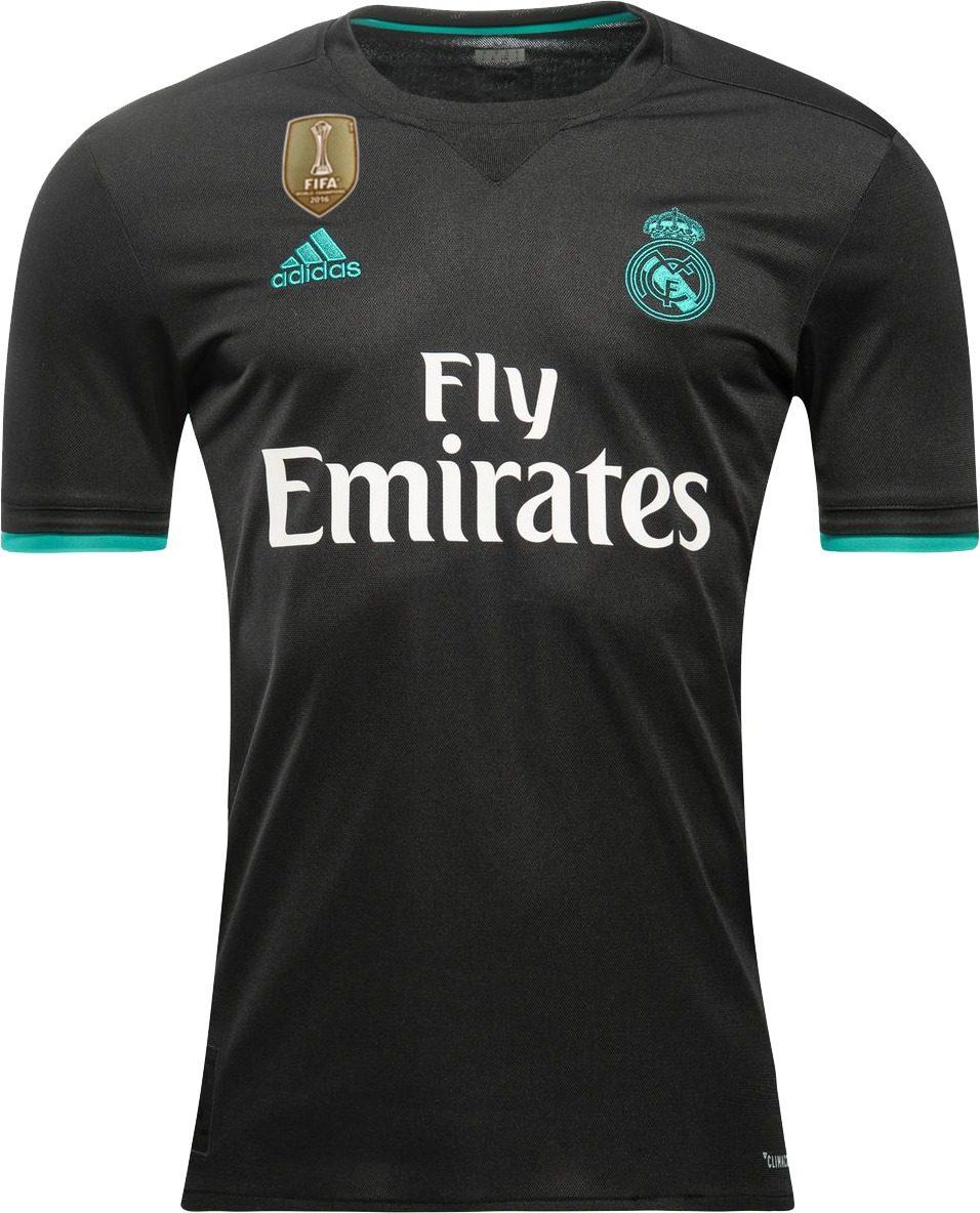 1cbcbefdd7308 Real Madrid Preta 2018 - Patch Campeão Mundial Fifa 2016 - R  179