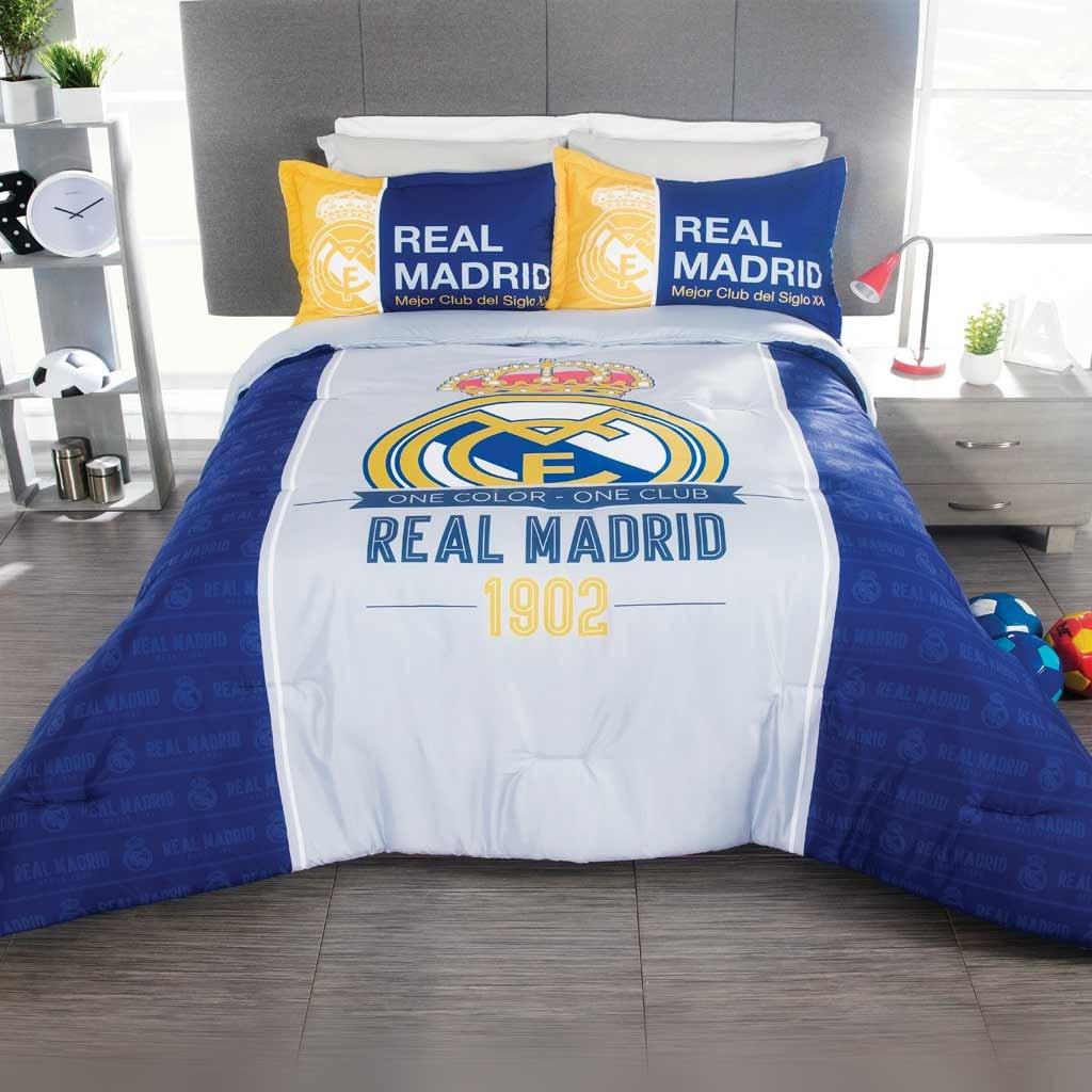 Cojin Edredon Real Madrid.Real Madrid Soccer Edredon Ind Cojin Colcha Ninos 2pc Fubol