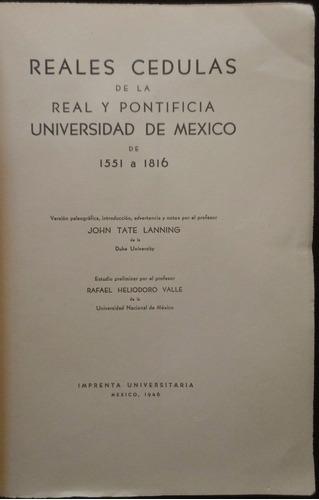reales cédulas de la real y pontificia universidad de méxico