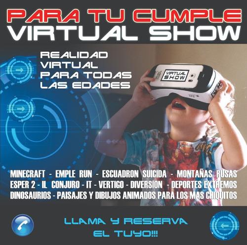 realidad virtual 360 en tu cumple, fiestas o eventos!!!