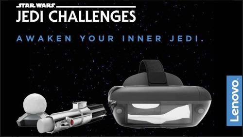 realidad virtual stars wars lenovo , nuevo en caja abierta