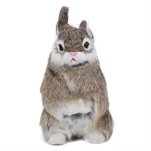 realista felpa conejo natural animal pascua casa ornamento s