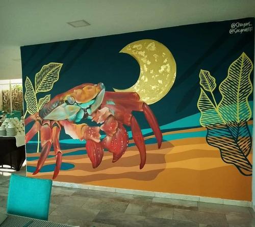 realización de murales comerciales y personalizados