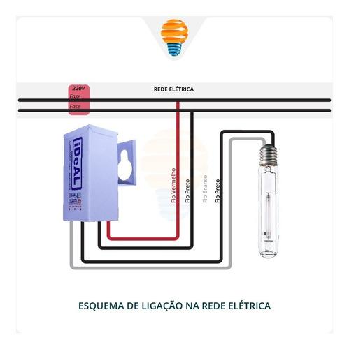 reator 250w vapor metálico ou sódio 220v externo