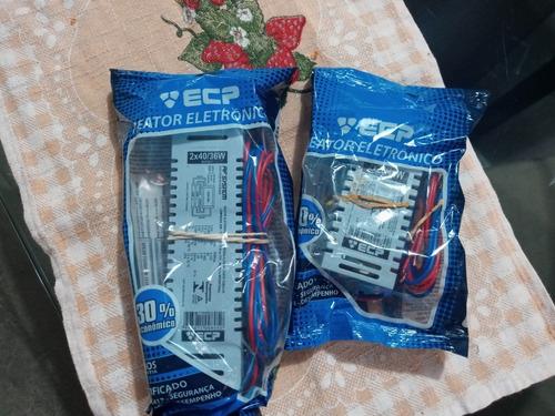 reator eletronico ecp 2x40/36w tenho 15 de cada lacrado novo