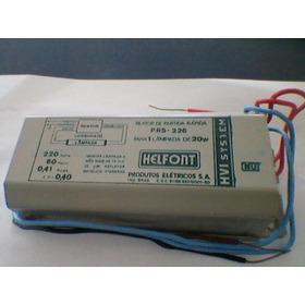 Reator Partida Rápida Helfont Kit  C/ 17 Unidades