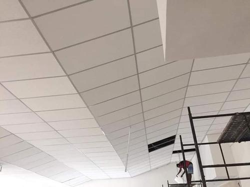 rebaixamento de teto drywall e isopor e divisórias drywall