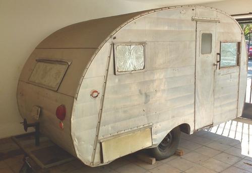 rebajado! camper rodante antiguo king trailer 1953 colección