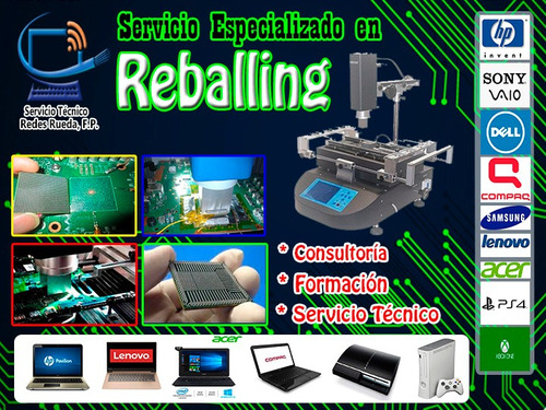 reballing especializado y reparacion laptops y pc