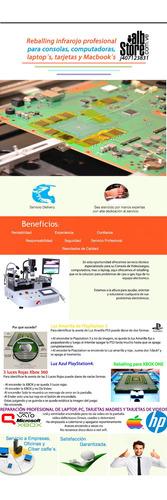 reballing infrarojo sony ps3 ps4 microsoft xbox 360 xbox one