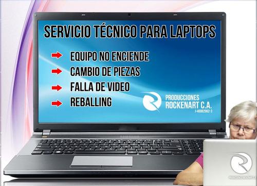 reballing laptop servicio tecnico revision y  respuestos