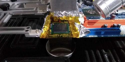 reballing placa vídeo, soquete e placa mãe