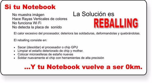 reballing profesional imac - macbook - pc - xbox - ps