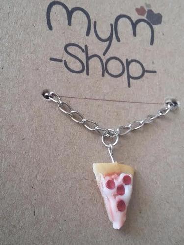 rebanada de pizza collar accesorios comida kawaii cute dc