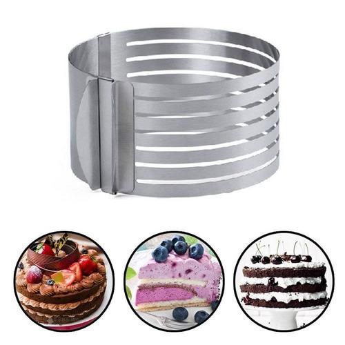 rebanado de la capa de la torta. anillo ajust + envio gratis