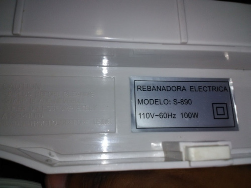 rebanadora electrica