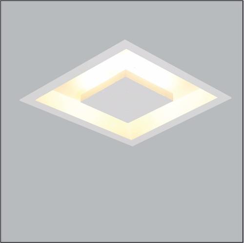 rebatedor embutir luz indireta led quadrado 50cm branco
