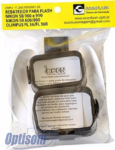 rebatedor para flash nikon sb600 sb800 - econ