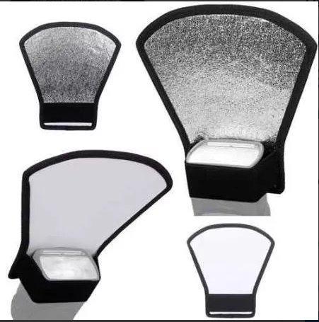 rebatedor para flash speedlight externo canon nikon 2 cores