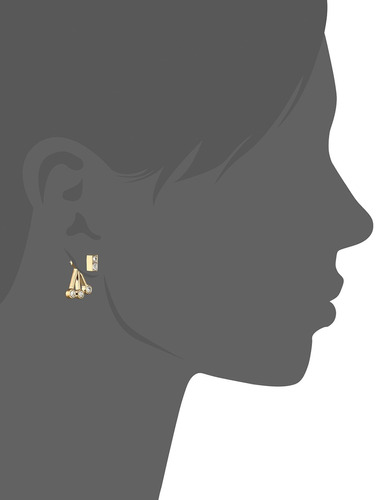 rebecca minkoff de oro con crystal stone fan back earring ch