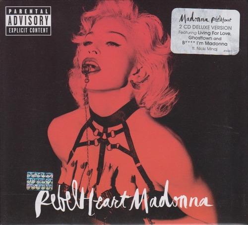 rebel heart - madonna - 2 discos cd - ed deluxe nuevo