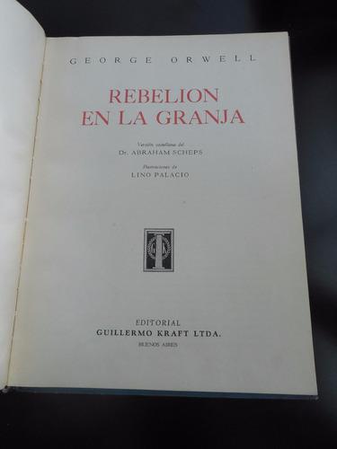 rebelion en la granja george orwell lino palacio