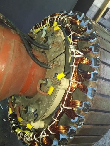 rebobinado de rotores de plantas electricas