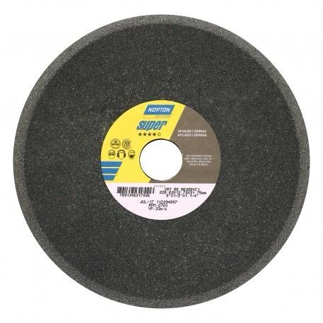 rebolo afiação serras - norton - 6 x 3/8 polegada -grana 60