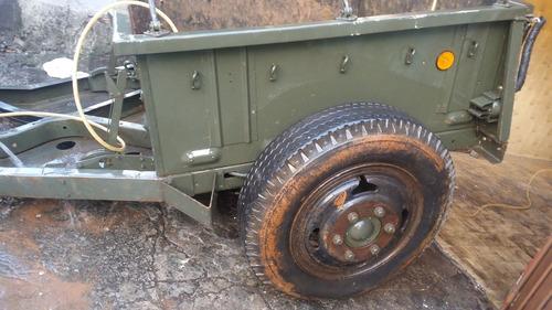 reboque carretinha militar exercito carreta verde