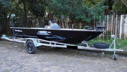 reboque para barco de alumínio 5 metros