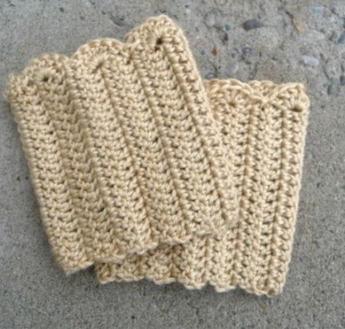 Perfecto Reborde De La Bota Patrón De Crochet Libre Modelo - Manta ...