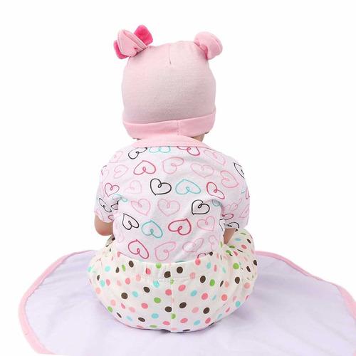reborn bebé muñeca 22 inch hecho a mano peso con un peluche